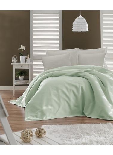 EnLora Home Enlora %100 Pamuk Casuel Pike Örtü Tek Kişilik Yeşil